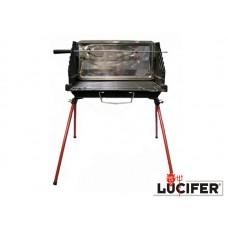 LUCIFER Gril na dřevěné uhlí HACIENDA litinový