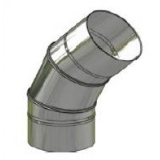 Koleno nerez regulovatelné ø200mm / 0 - 45° 3-segm