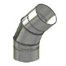 Koleno nerez stálé ø 130 mm / 45°