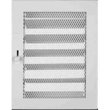 Krbová mřížka 185 x 310 bílá s žaluzií PROBEX