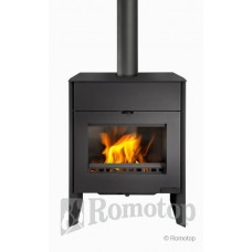 Krbová kamna Romotop Riano 01 W s teplovodním výměníkem - plech