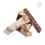 Okrasná keramika pro bio krb dekor MIX keramické dřevo