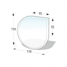 Podkladové tvrzené sklo pod kamna Lienbacher 21.02.864.2